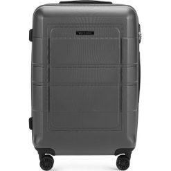 Walizka średnia 56-3H-542-00. Szare walizki marki Wittchen, z gumy, średnie. Za 179,00 zł.