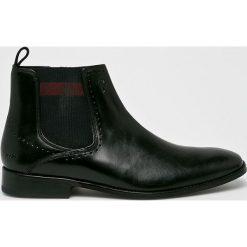 Joop! - Buty. Czarne buty skate męskie marki Kazar, ze skóry, z otwartym noskiem. Za 679,90 zł.