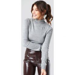Trendyol Sweter z półgolfem - Grey. Szare swetry klasyczne damskie marki Vila, l, z bawełny, z okrągłym kołnierzem. Za 80,95 zł.