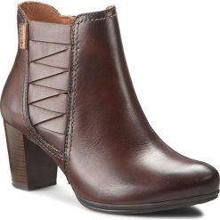 Botki PIKOLINOS - W5C-8731 Olmo. Brązowe buty zimowe damskie Pikolinos, z materiału, na obcasie. W wyprzedaży za 369,00 zł.