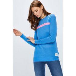 Calvin Klein Jeans - Sweter. Szare swetry klasyczne damskie marki Calvin Klein Jeans, l, z bawełny, z okrągłym kołnierzem. Za 359,90 zł.