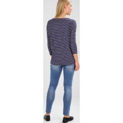 Bluzki asymetryczne: JoJo Maman Bébé DROP SHOULDER MATERNITY NURSING Bluzka z długim rękawem navy/ecru