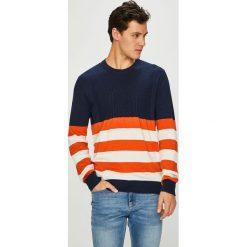 Pepe Jeans - Sweter. Szare swetry klasyczne męskie Pepe Jeans, l, z bawełny, z okrągłym kołnierzem. Za 319,90 zł.