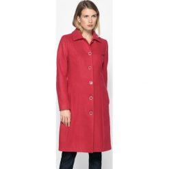 Płaszcze damskie pastelowe: Wełniany płaszcz