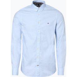Tommy Hilfiger - Koszula męska, niebieski. Niebieskie koszule męskie na spinki TOMMY HILFIGER, m, z dekoltem karo. Za 349,95 zł.