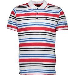 """Koszulki polo: Koszulka polo """"Pieran"""" w kolorze biało-czerwonym"""
