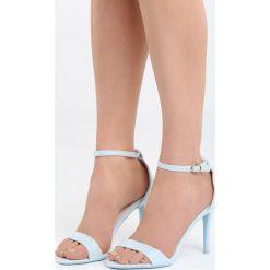 Niebieskie Sandały You're Adorable. Czarne sandały damskie marki Kazar, z nubiku, na wysokim obcasie, na szpilce. Za 79,99 zł.