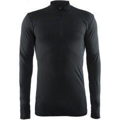 Craft Koszulka Męska  Active Comfort Zip Ls Czarna Xl. Czarne koszulki do fitnessu męskie Craft, m, ze skóry. Za 139,00 zł.