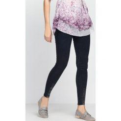 Spodnie damskie: Granatowe Jegginsy About You