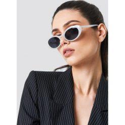 Okulary przeciwsłoneczne damskie: NA-KD Trend Owalne okulary przeciwsłoneczne retro – White
