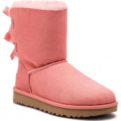 Buty UGG - W Bailey Bow II 1016225 W/Lnt. Szare buty zimowe damskie marki Ugg, z materiału, z okrągłym noskiem. Za 969,00 zł.