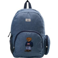 Plecaki męskie: Polo Ralph Lauren CAMPUS BACKPACK Plecak blue chambray nylon/ navy w/boy sweater bear