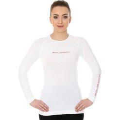 Bluzki sportowe damskie: Brubeck Koszulka damska 3D Run PRO z długim rękawem biała r. XL (LS13140)