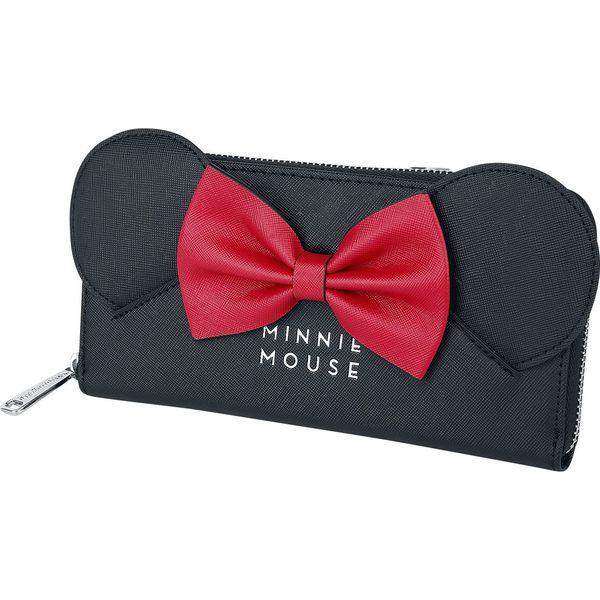 Modernistyczne Myszka Miki i Minnie Loungefly - Ears And Bow Portfel czerwony JN35