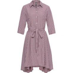 Sukienki: Sukienka koszulowa bonprix czerwono-biały w kratę