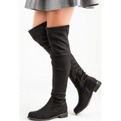 Buty zimowe damskie: PŁASKIE MUSZKIETERKI
