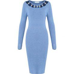 Niebieska Sukienka Underline. Niebieskie sukienki dzianinowe Born2be, na jesień, l. Za 89,99 zł.