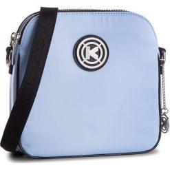 Torebka KAZAR - 27736-KK-85 Light Blue. Niebieskie listonoszki damskie marki Kazar, z materiału, z breloczkiem. W wyprzedaży za 279,00 zł.