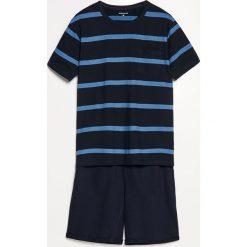 Piżama z szortami - Granatowy. Niebieskie piżamy męskie marki Quiksilver, z materiału, sportowe. Za 69,99 zł.