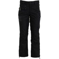 Superdry Spodnie narciarskie black. Szare bryczesy damskie marki Superdry, l, z nadrukiem, z bawełny, z okrągłym kołnierzem. W wyprzedaży za 434,50 zł.