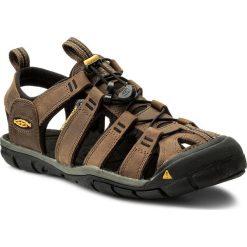 Sandały KEEN - Clearwater Cnx Leather 1013106 Dark Earth/Black. Brązowe sandały męskie skórzane Keen. W wyprzedaży za 299,00 zł.