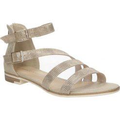Sandały z ozdobnym zamkiem Marco Tozzi 2-28104-28. Brązowe sandały damskie marki Marco Tozzi. Za 119,99 zł.
