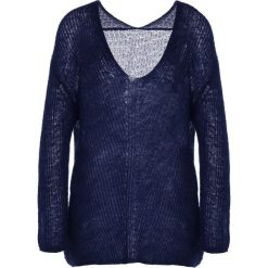 Holzweiler CINDY Sweter navy. Szare swetry klasyczne damskie marki Alma en Pena, z materiału, na płaskiej podeszwie. W wyprzedaży za 355,05 zł.