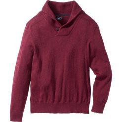 Swetry męskie: Sweter z szalowym kołnierzem Regular Fit bonprix jeżynowy