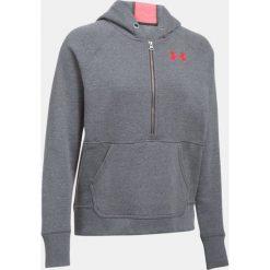 Bluzy sportowe damskie: Under Armour Bluza damska Favorite Fleece 1/2 Zip szaro-różowa r.M (1298416-090)