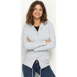 Bluzy damskie: Szara Bluza Remorse