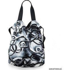 Dwustronna Torba TWIN Cord limitowana edycja. Szare torebki klasyczne damskie Pakamera, z bawełny, duże. Za 195,00 zł.