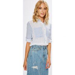 Answear - Koszula Stripes Vibes. Szare koszule damskie marki ANSWEAR, l, w paski, z dzianiny, casualowe, z klasycznym kołnierzykiem, z długim rękawem. W wyprzedaży za 59,90 zł.