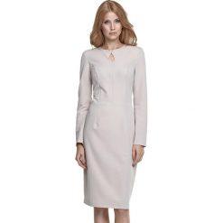 Długie sukienki: Sukienka w kolorze beżowym