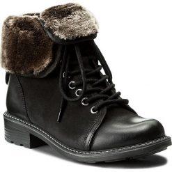 Botki LASOCKI - WI16-VIVA-07 Czarny. Czarne buty zimowe damskie Lasocki, z nubiku, na obcasie. Za 229,99 zł.
