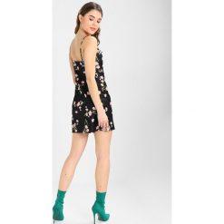 Sukienki hiszpanki: Topshop FLORAL COWL NECK SLIP Sukienka koktajlowa black