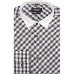 Koszula barnet 1757 długi rękaw slim fit brąz. Szare koszule męskie slim marki Recman, na lato, l, w kratkę, button down, z krótkim rękawem. Za 29,99 zł.