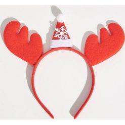 Świąteczna opaska do włosów - Czerwony. Czerwone ozdoby do włosów Sinsay. Za 9,99 zł.
