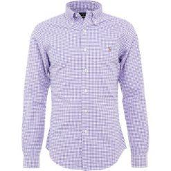 Polo Ralph Lauren OXFORD SLIM FIT Koszula lavender/withe. Szare koszule męskie slim marki Polo Ralph Lauren, l, z bawełny, button down, z długim rękawem. Za 419,00 zł.