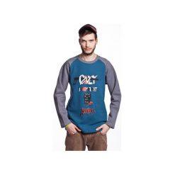 YOUNG by SZUM bluza męska sea. Niebieskie bluzy męskie rozpinane Slogan ubrania ekologiczne, etyczne i wegańskie, l, z aplikacjami, z bawełny. Za 199,00 zł.