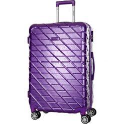Walizka w kolorze fioletowym - 34 l. Fioletowe walizki marki Travel One, z materiału. W wyprzedaży za 189,95 zł.