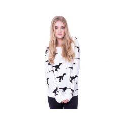 Bluzy damskie: BLUZA W DINOZAURY – Biała