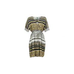 Sukienki krótkie Benetton  JENTOR. Brązowe sukienki mini marki Benetton, l, z krótkim rękawem. Za 207,20 zł.