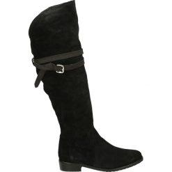Kozaki - 2113404 NERO. Czarne buty zimowe damskie marki Venezia, z materiału, na obcasie. Za 329,00 zł.
