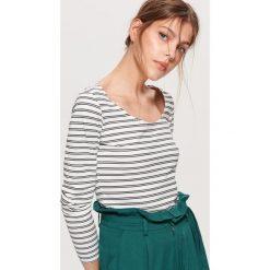 Koszulka z długim rękawem - Biały. Białe t-shirty damskie marki Cropp, l. Za 39,99 zł.