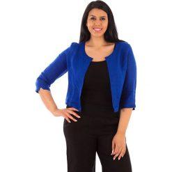 Kardigany damskie: Lniany kardigan w kolorze niebieskim