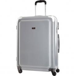 Walizka w kolorze szarym - 84 l. Szare walizki marki Platinium, z materiału. W wyprzedaży za 269,95 zł.