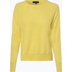 SvB Exquisit - Sweter damski z czystego kaszmiru, żółty. Żółte swetry klasyczne damskie SvB Exquisit, z dzianiny. Za 899,95 zł.