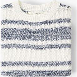 Mango Kids - Sweter dziecięcy Regata 110-164 cm. Szare swetry chłopięce Mango Kids, z bawełny, z okrągłym kołnierzem. W wyprzedaży za 49,90 zł.