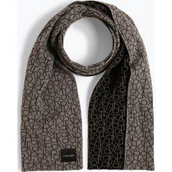 Calvin Klein - Szalik damski, szary. Szare szaliki damskie marki Calvin Klein, z bawełny. Za 299,95 zł.