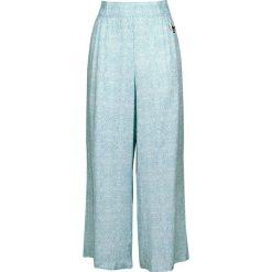 Aladyn Moroccan Rajah Spodnie damskie turkusowy. Niebieskie spodnie z wysokim stanem Aladyn, z nadrukiem, z materiału. Za 121,90 zł.